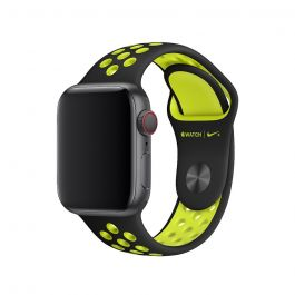 Curea Apple Watch 40mm Nike Band: Black/Volt Nike Sport Band - S/M & M/L