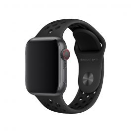 Curea Apple Watch 40mm Nike Band: Anthracite/Black Nike Sport Band - S/M & M/L