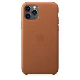 Husa de protectie Apple pentru iPhone 11 Pro, Piele, Saddle Brown