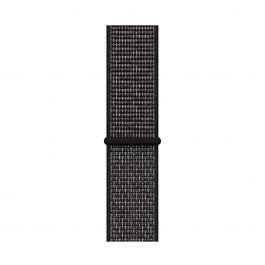 Curea Apple pentru Apple Watch 44mm Nike, Black Nike Sport Loop