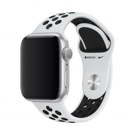 Curea Apple Watch 40mm Nike Band: Pure Platinum/Black Nike Sport Band - S/M & M/L