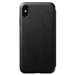 Husa de protectie Nomad Folio pentru iPhone Xs Max, Piele, Negru