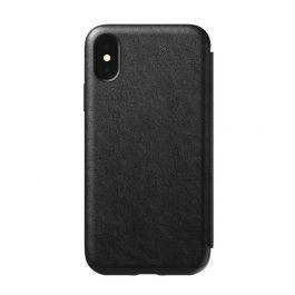 Husa de protectie Nomad Folio pentru iPhone X / iPhone Xs, Piele, Negru