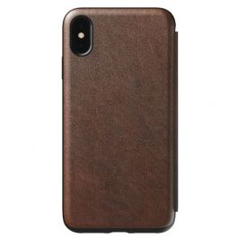 Husa de protectie Nomad Folio pentru iPhone Xs Max, Piele, Maro