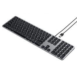 Tastatura SATECHI USB cu fir din Aluminiu, Space Gray