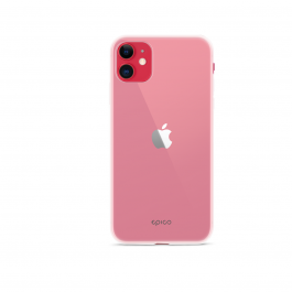 Husa de protectie iPhone 11, Silicon, Alb Transparent