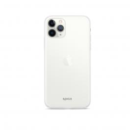 Husa de protectie Epico pentru iPhone 11 Pro, Silicon, Alb Transparent