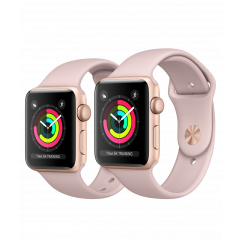 Apple Watch Series 3 GPS Gold Aluminium Case with Pink Sport Band