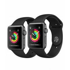 Apple Watch Series 3 GPS Space Gray Aluminium Case with Black Sport Band