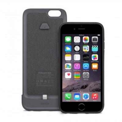 (EOL) Moshi iGlaze Ion Battery Case for iPhone 6/6s - Black Steel
