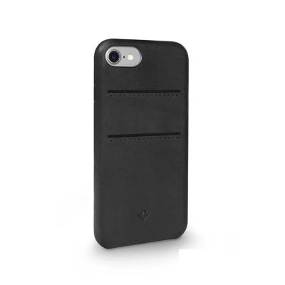 TwelveSouth Relaxed Leather Clip (with pockets) for iPhone 7 - Black