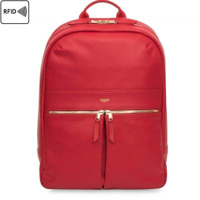 (EOL) Knomo BEAUX Leather Backpack 14inch - Chili