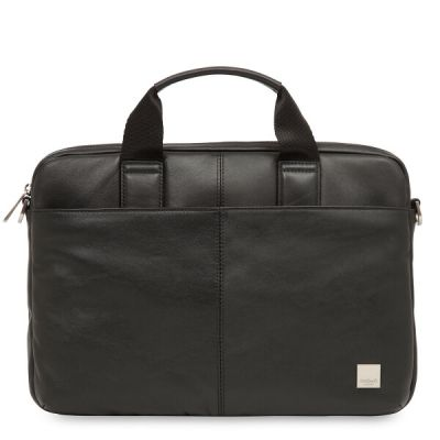 Knomo STANFORD Small Leather Briefcase 13inch - Black