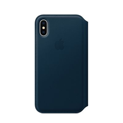 Apple Leather Folio for iPhone X - Cosmos Blue