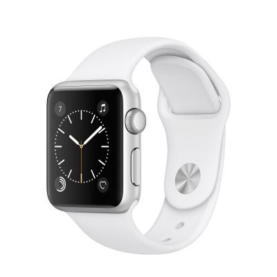 Apple Watch Series 1 Aluminium Case with Sport Band White (38mm) - Silver