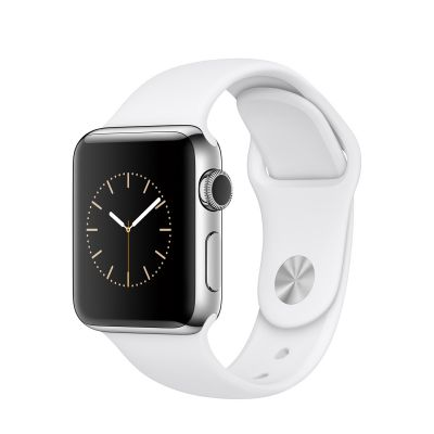 Apple Watch Series 2 Stainless Steel Case with White Sport Band (38mm) - Silver