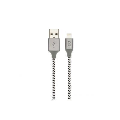Cablu lightning EPICO Braided - 1,8m Gri
