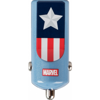 Tribe Marvel Car Charger (Captain America) - Blue