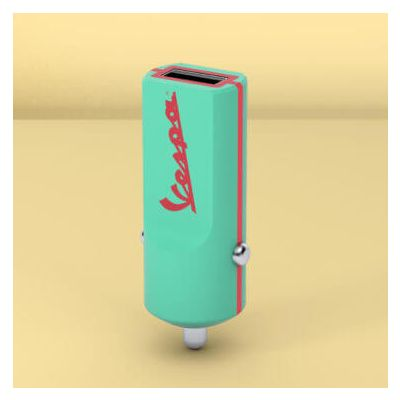 Tribe Vespa Car Charger - Acquamarine