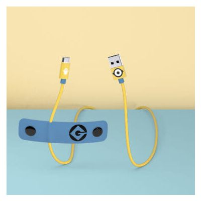 Tribe Minions Micro USB Cable (Carl) (120cm) - Blue