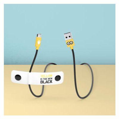 Tribe Minions Micro USB Cable (Jail Time Minion) (120cm) - White