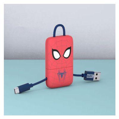 Tribe Marvel Micro USB Keyline (Spiderman) (22cm) - Red