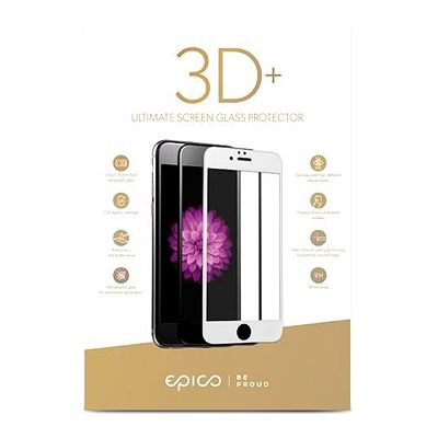 EPICO 3D+ Tempered glass for iPhone 6/6S/7/8 Plus - White