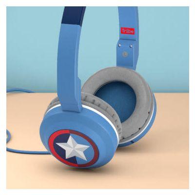 Tribe Marvel Headphones (Captain America) - Blue