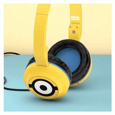 Tribe Minions Pop Headphones (Carl) - Yellow