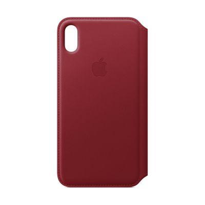 Husa de protectie Apple folio pentru iPhone Xs max, Piele - (PRODUCT)RED
