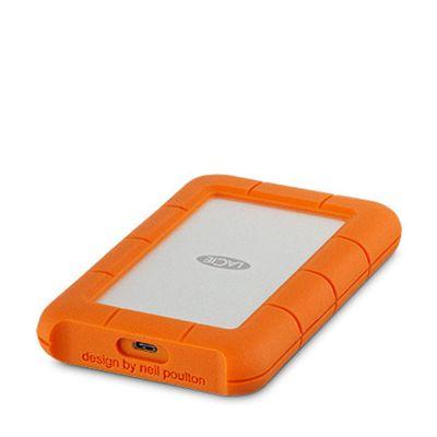 LaCie Rugged USB-C (1TB) - Silver/Orange