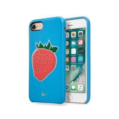 Laut KITSCH faux leather case for iPhone 7/8 - Fraise Blue