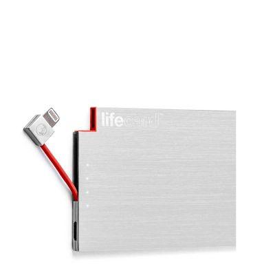 PlusUs LifeCard (PowerBank) - Brushed Stainless Steel