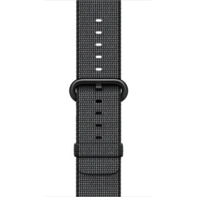(EOL) Apple Watch 38mm Band: Woven Nylon - Black (curea)