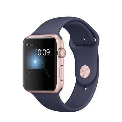 Apple Watch Series 2 Aluminium Case with Sport Band Midnight Blue (42mm) - Rose Gold
