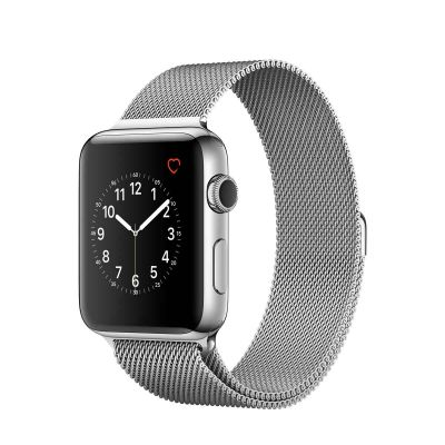 Apple Watch Series 2 Stainless Steel Case with Silver Milanese Loop (42mm)