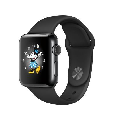 Apple Watch Series 2 Stainless Steel Case with Sport Band Space Black (38mm) - Space Black