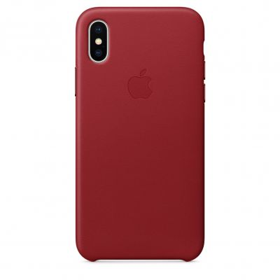 Apple Leather Case for iPhone X - (PRODUCT)RED