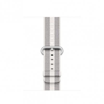 Apple Watch 38mm Stripe: Woven Nylon - White (curea)