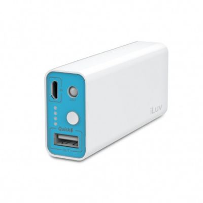 iLuv Portable Charger 1 USB Port (5200mAh) - White
