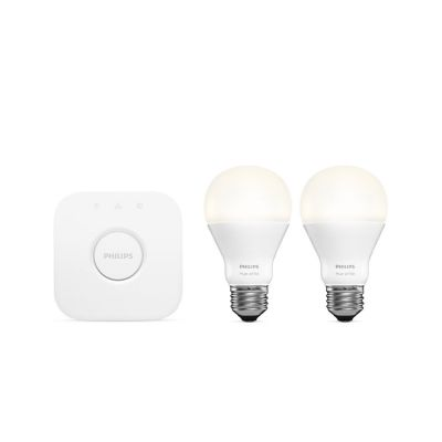 Philips Hue Starter kit (2xE27 White, A60 + bridge)