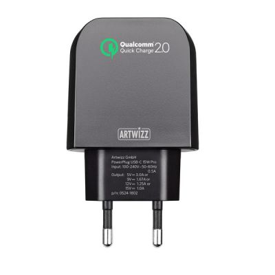 Artwizz PowerPlug USB-C 15W - Black
