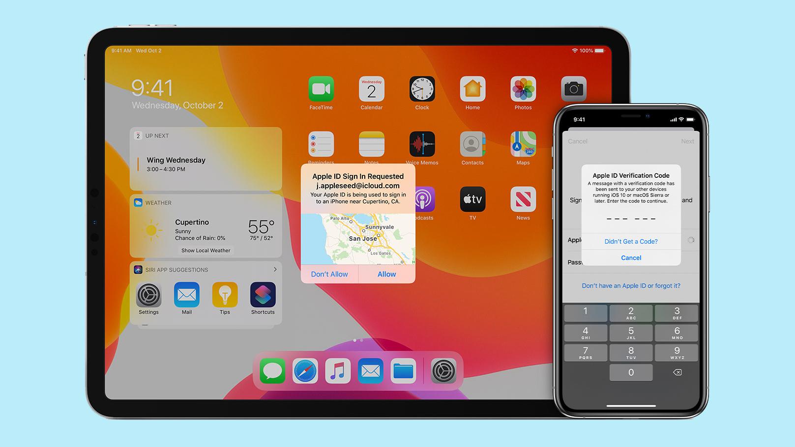 autentificarea cu doi factori pe iphone si ipad