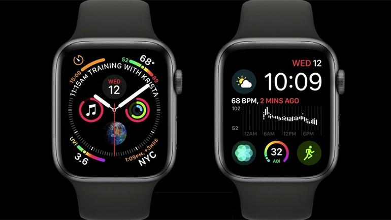 doua ceasuri apple watch cu indicatori diferiti
