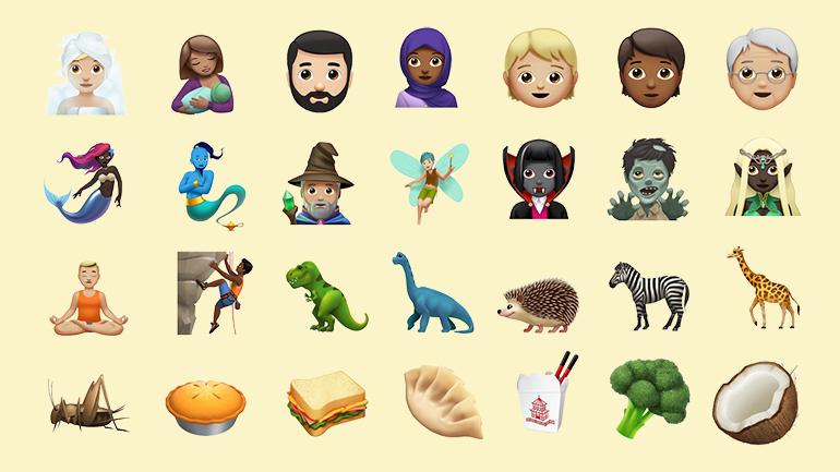 emoji pe fundal galben