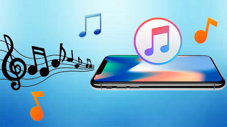 simboluri muzicale pe fundal albastru