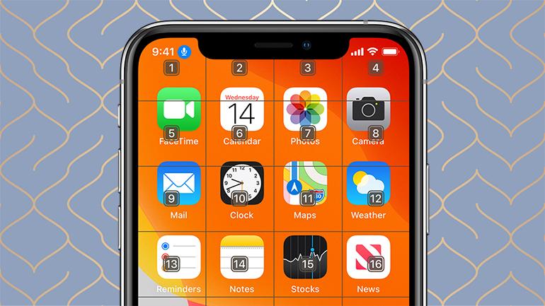 iphone pe fundal gri