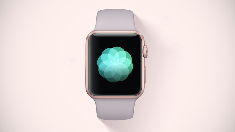 apple watch  alb pe fundal alb
