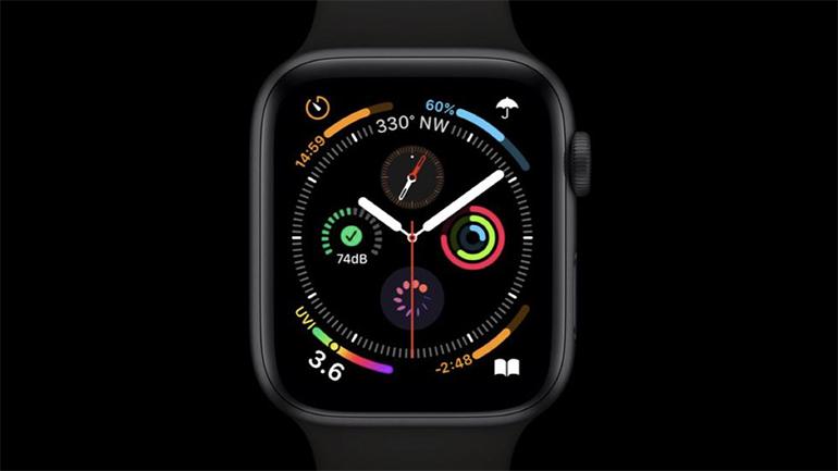 apple watch negru pe fundal negru