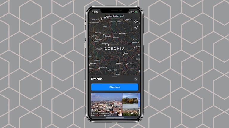 Maps pe iPhone
